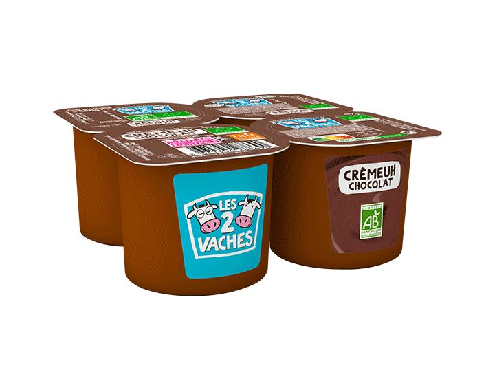 Dessert crèmeuh chocolat 4x95g