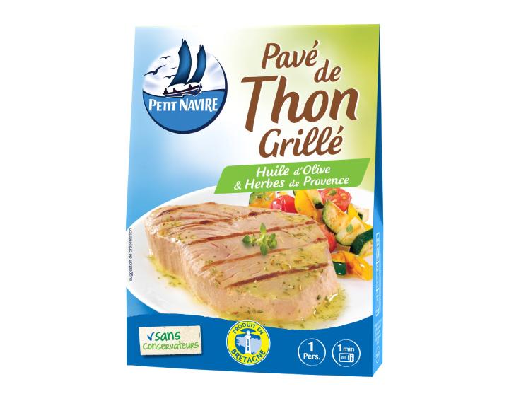 Pavé de Thon Grillé Huile d'Olive & Herbes de Provence - 120g