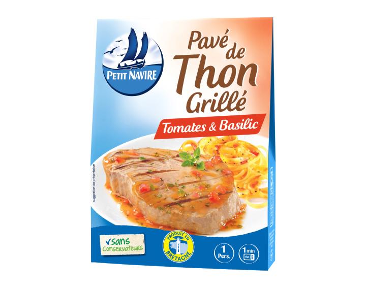 Pavé de Thon Grillé Tomates & Basilic - 120g
