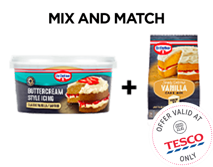 Vanilla Buttercream Style Icing & Cake Mix 425g
