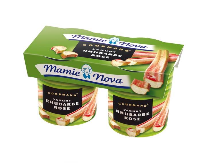 Yaourts Gourmand® Rhubarbe Rose Mamie Nova