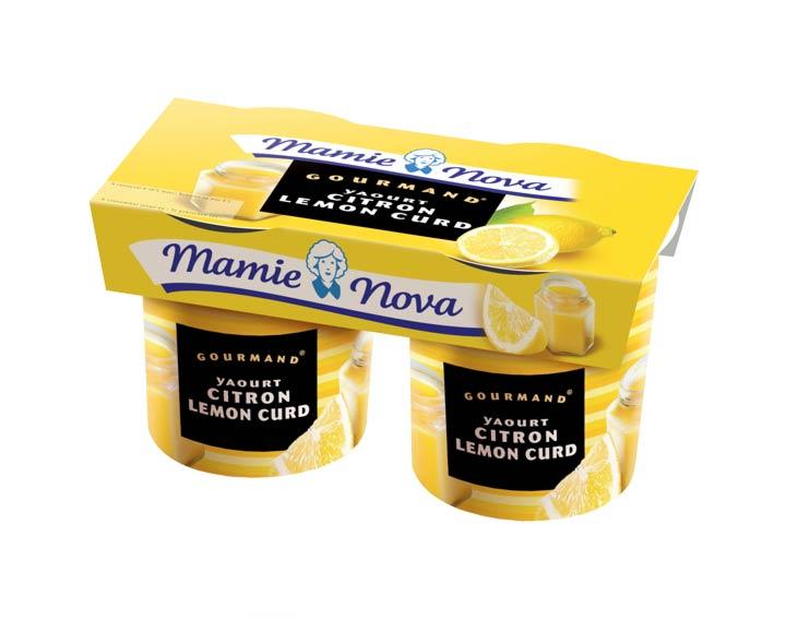 Yaourts Gourmand® Citron Lemon Curd Mamie Nova