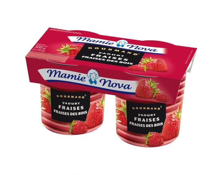 Yaourts Gourmand® Fraises Fraises des Bois Mamie Nova