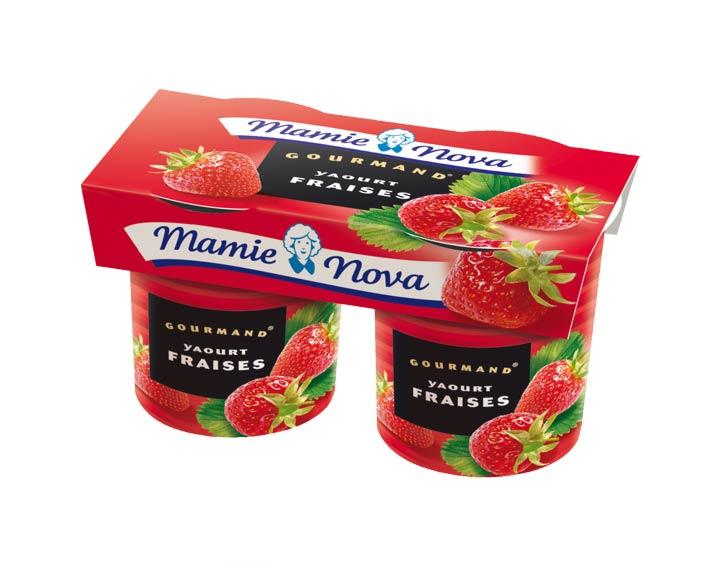 Yaourts Gourmand® Fraises Mamie Nova