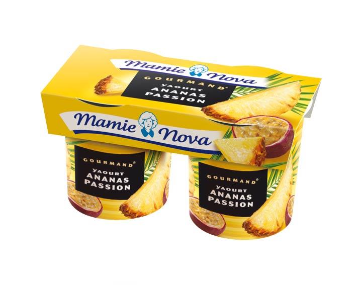 Yaourts Gourmand® Ananas Passion Mamie Nova