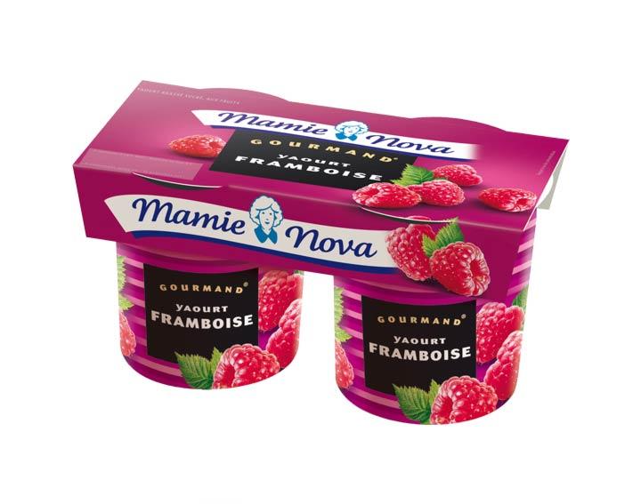 Yaourts Gourmand® Framboises Mamie Nova