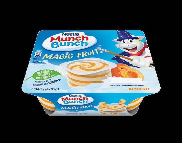 Munch Bunch Magic Fruit Apricot 4x85g