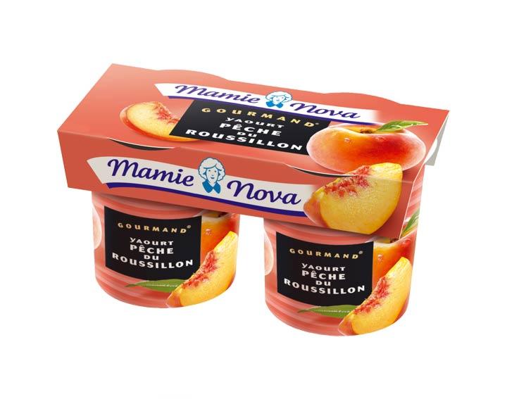 Yaourts Gourmand® Pêche du Rousillon Mamie Nova