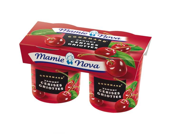 Yaourts Gourmand® Cerises Griottes Mamie Nova