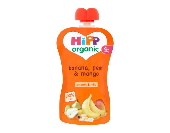 HiPP Organic pouch banana, pear & mango