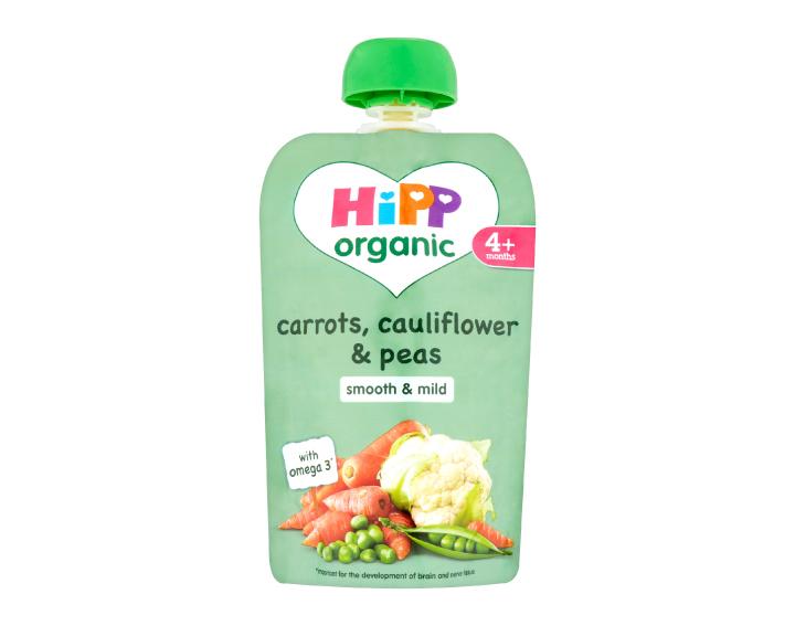 HiPP Organic pouch carrots, cauliflower & peas