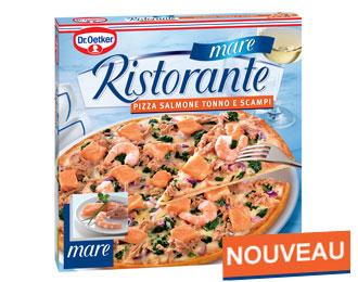 Pizza Ristorante mare Salmone Tonno e Scampi