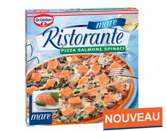 Pizza Ristorante mare Salmone Spinaci