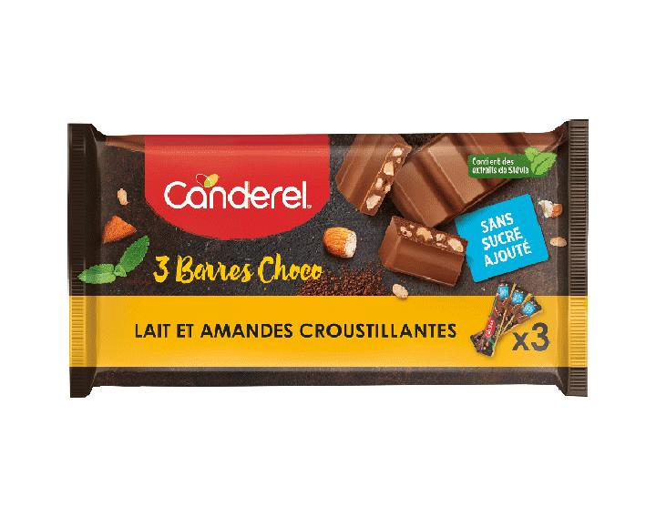 Barres Lait et Amandes Croustillantes 3x27g