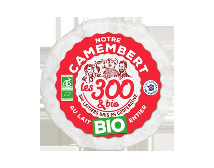 Notre camembert au lait entier Bio
