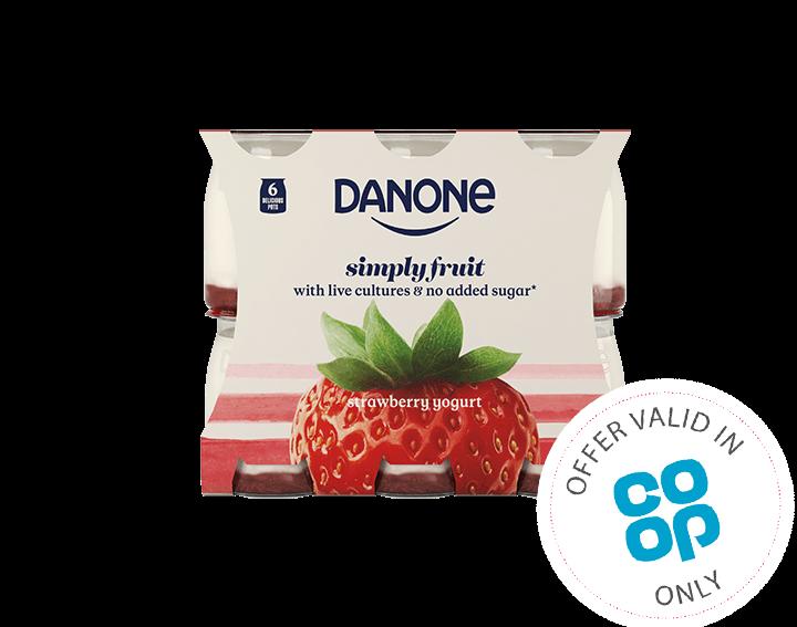 Simply Fruit Strawberry Yogurt 6x110g