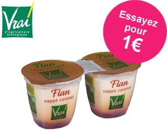 Vrai - Flan Nappé Caramel Bio 2x125g