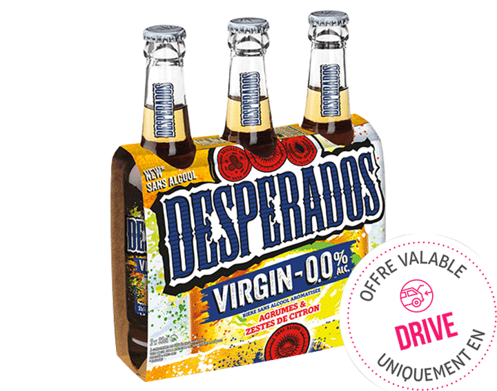 Desperados Virgin bière sans alcool 3x33cl
