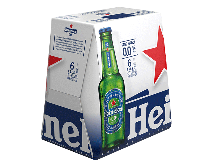Heineken 0.0 bière blonde sans alcool 6x25cl