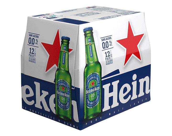 Heineken 0.0 bière blonde sans alcool 12x25cl