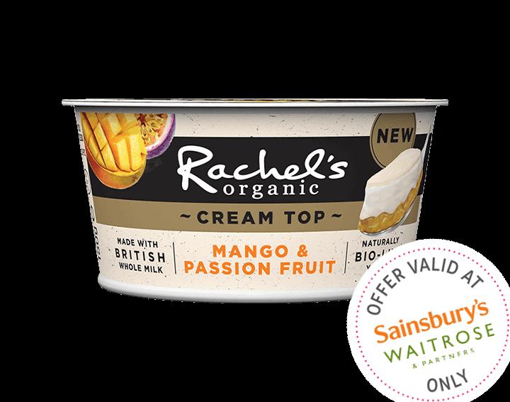 Cream Top Mango & Passion Fruit Yogurt 150g