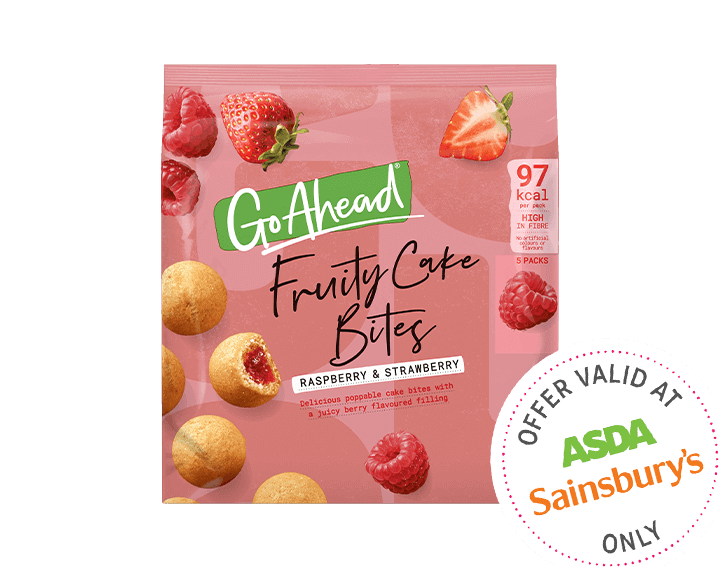 Fruity Cake Bites Raspberry & Strawberry 5x27.3g
