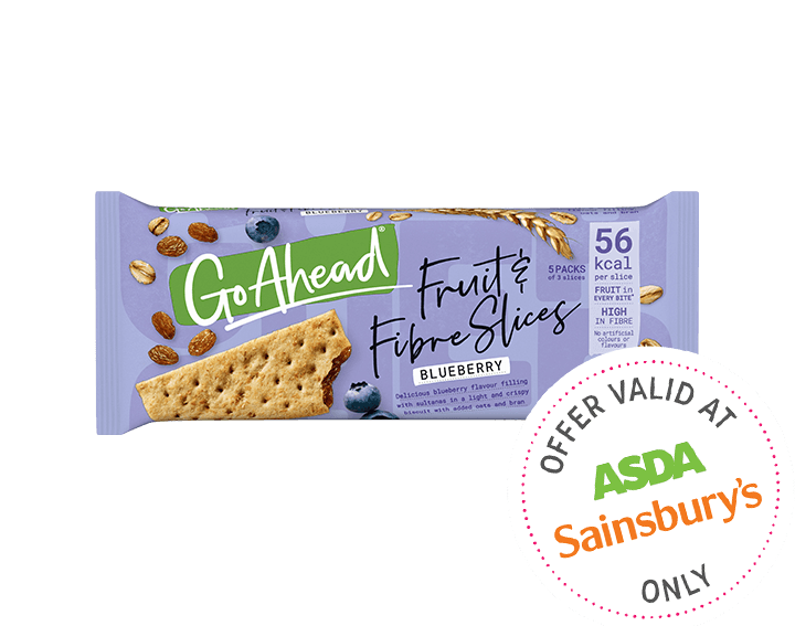 Fruit and Fibre Slices Blueberry 5x43.6g