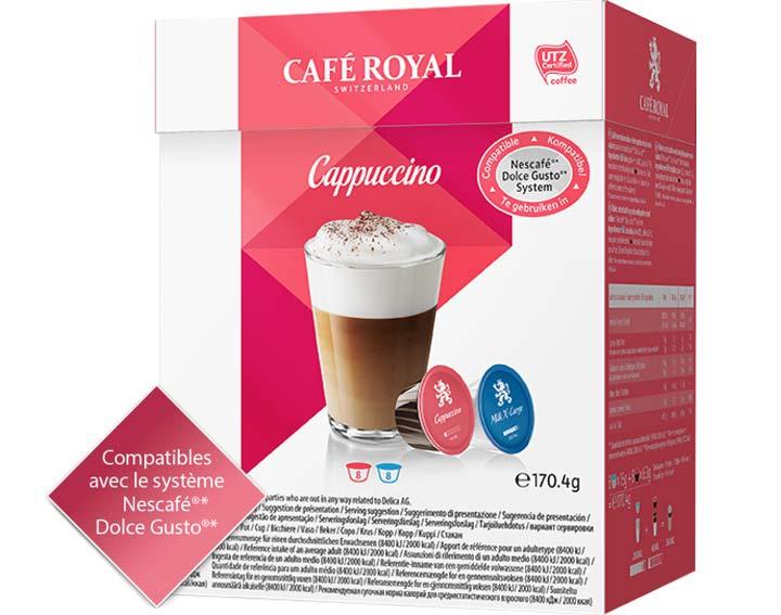Capsules Café Royal Cappuccino *Cette marque est la propriété de tiers qui n'ont aucune relation avec Delica AG.