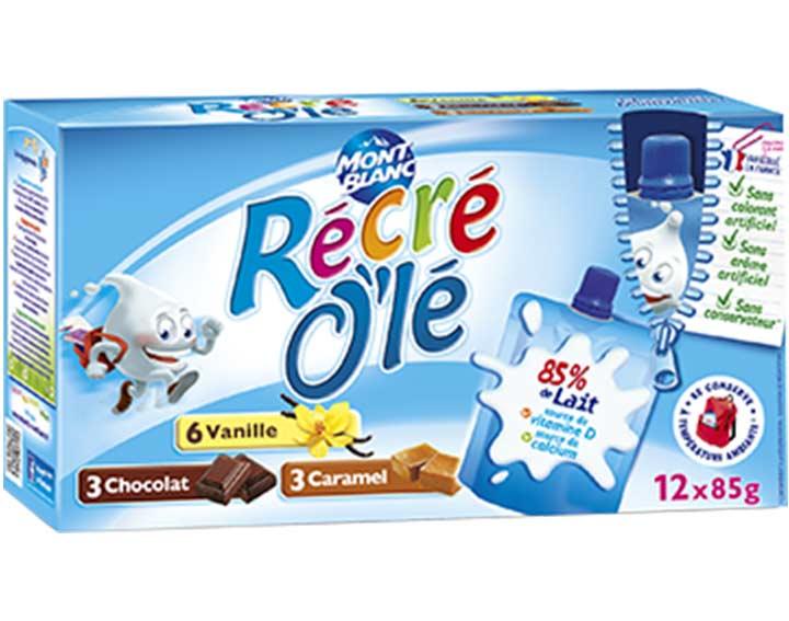 Récré O'lé Tri-variétés Vanille, chocolat, caramel x12