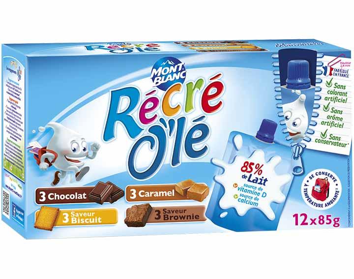 Récré O'lé Quadri-variétés chocolat, caramel, saveur biscuit, saveur brownie x12