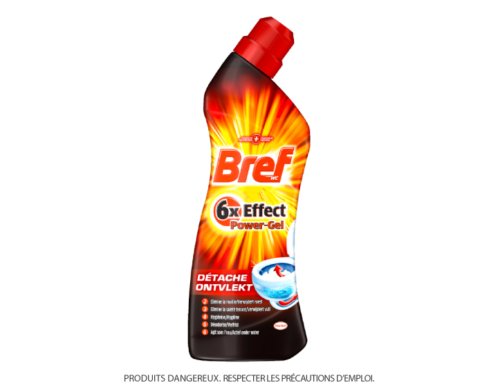 Bref WC 6x Effect Power Gel Détache 750ml