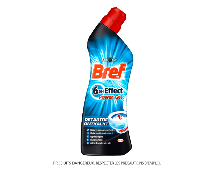 Bref WC 6x Effect Power Gel Détartre 750ml