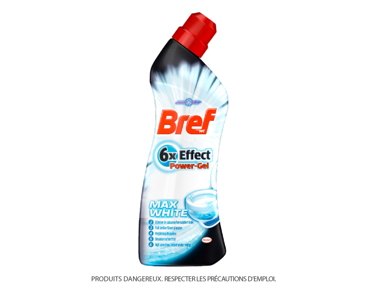 Bref WC 6x Effect Power Gel Max White 750ml