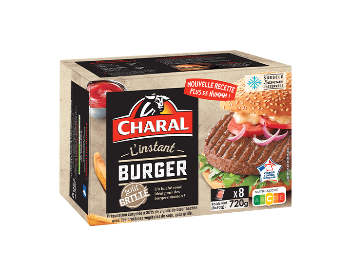 L'instant Burger Charal x8