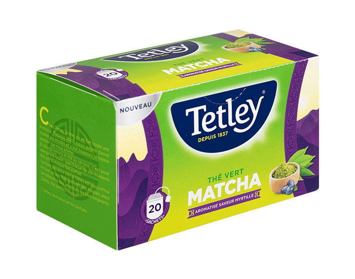 Thé Vert Matcha saveur Myrtille 20 sachets