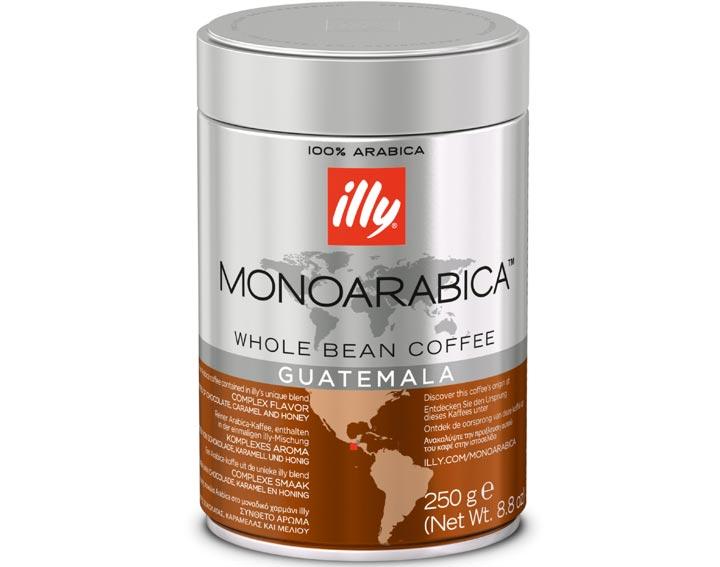 Café en grains Guatemala : goût intense (avec des notes de chocolat, caramel et miel)