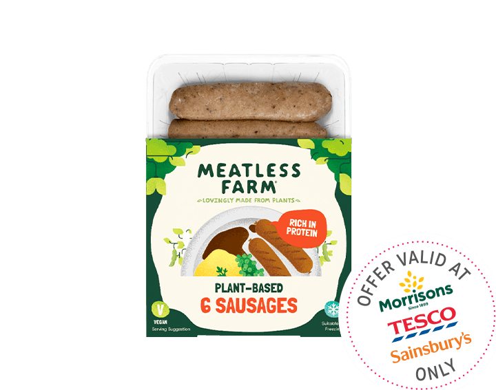 Plant-Based Sausages x6, 300g