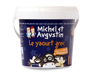 Michel et Augustin Le yaourt qui donne envie d'être grec ;) Pot de 500gr infusé à la vanille de Madagascar