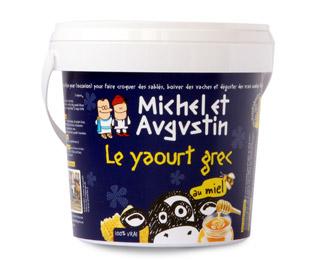 Michel et Augustin Le yaourt qui donne envie d'être grec ;) Pot de 500gr au miel