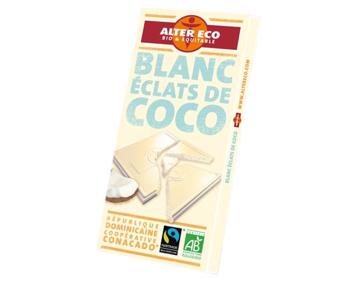 Chocolat Blanc Eclats de Coco