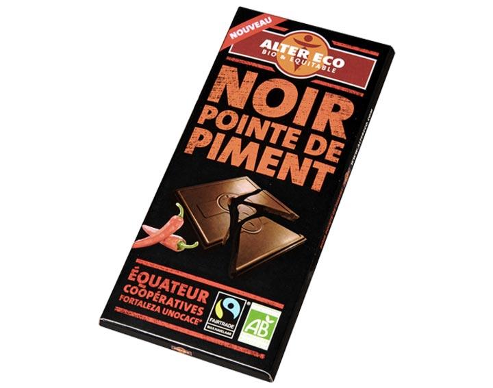 Chocolat Noir Pointe de Piment