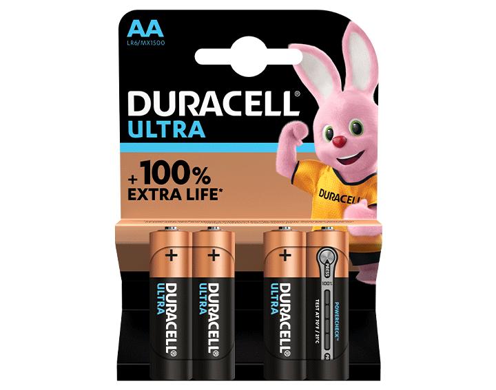 Duracell Ultra AA 4 piles