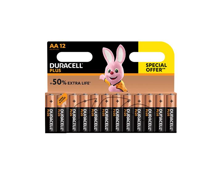 Duracell Plus AA 12 piles offre spéciale