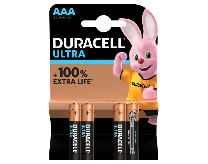 Duracell Ultra AAA 4 piles