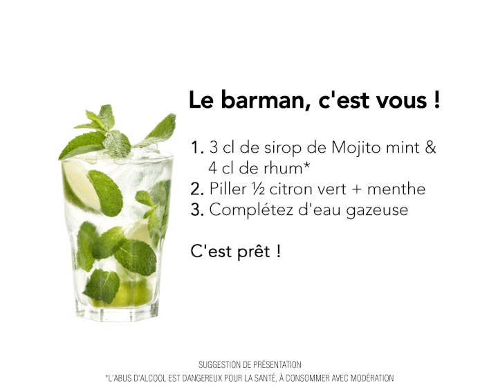 Recette cocktail avec Alcool : Mojito