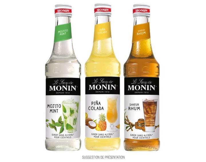 Sirop de Mojito Mint, de Piña-Colada et de saveur Rhum