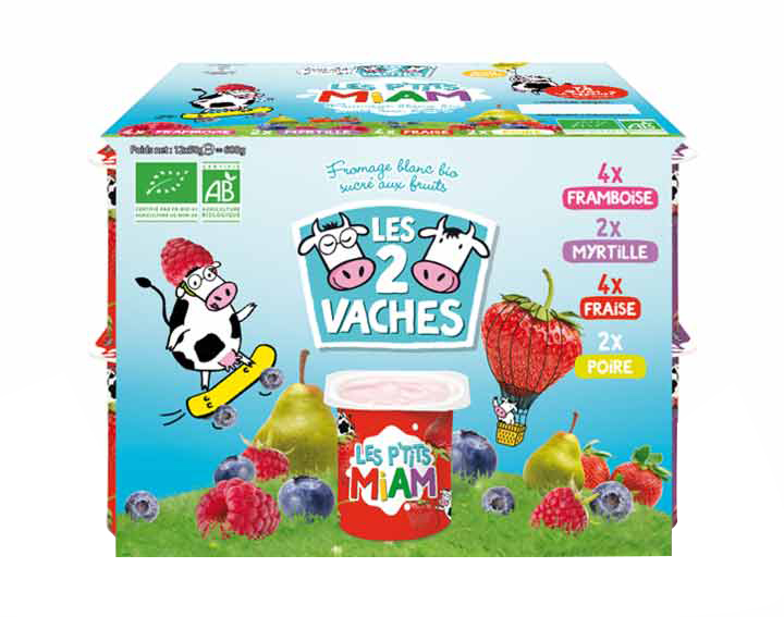 Les P'tits Miam aux fruits Les 2 Vaches x12