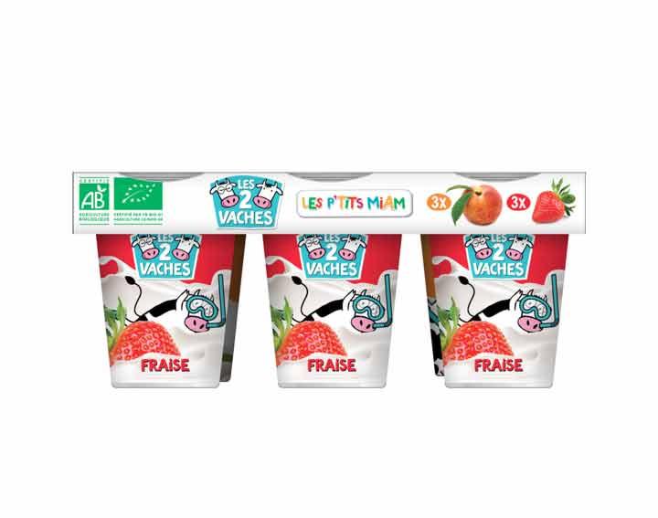 Les P'tits Miam à boire à la fraise & à la pêche x6
