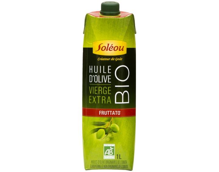 L'Huile d'Olive Biologique Fruttato en Tetra Prisma 1L Soléou