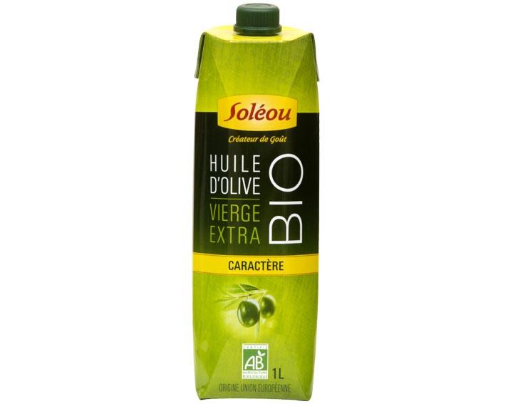 L'Huile d'Olive Biologique Caractère en Tetra Prisma 1L Soléou